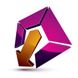 3d creative symbol with arrow aiming at target. Business objecti Royalty Free Stock Photo