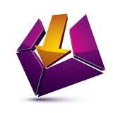 3d creative symbol with arrow aiming at target. Business objecti Royalty Free Stock Image