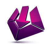 3d creative symbol with arrow aiming at target. Business objecti Royalty Free Stock Images