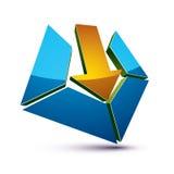 3d creative symbol with arrow aiming at target. Business  Stock Photos