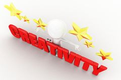 3d creativity concept Stock Photography
