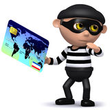 3d Credit burglar. 3d render of a burglar stealing a credit card Royalty Free Stock Photography
