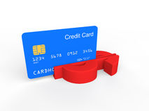 3d credit card swiping in dollar symbol Stock Photo