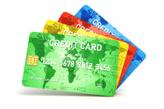 3d credit cards Stock Photos
