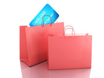 3d credit cart. shopping concept Stock Image