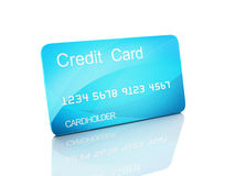 3d credit card on white background Stock Photography