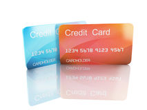 3d credit card on white background Stock Photos