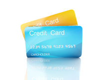 3d credit card on white background Royalty Free Stock Photos