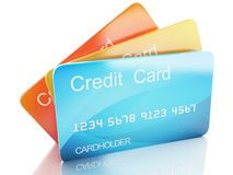 3d credit card on white background Royalty Free Stock Photography