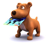 3d Credit puppy Stock Images