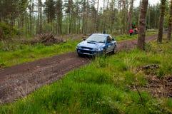 D. Creedon driving Subaru Impreza Stock Image