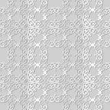 3D CREST van het de Kromme Dwars Koninklijk Kader van de Witboekkunst Spiraalvormig Stock Afbeeldingen