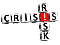 3D Crisis Risk Crossword. On white background Stock Images