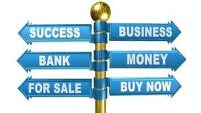 3d crossroads,business word,animation. 3d crossroads,business word,best animation stock illustration