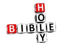 3D Crossword Święta biblia na białym tle Obraz Royalty Free