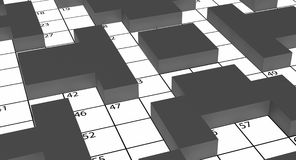 3d crossword Zdjęcia Royalty Free
