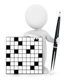 3d crossword biali ludzie Zdjęcia Stock