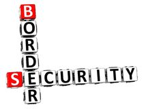 3D Crossword Border Security on white background.  Stock Photography