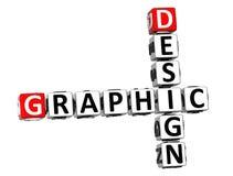 3D Crossword Graficzny projekt na białym tle Obrazy Stock