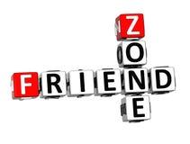 3D Crossword przyjaciela strefa na białym tle royalty ilustracja