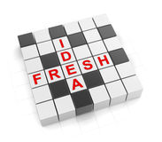 3d Crossword serie Fotografia Royalty Free