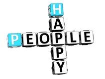 3D Crossword Szczęśliwi ludzie Obraz Stock
