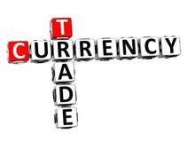 3D Crossword waluty handlu rynki walutowi nad białym tłem Fotografia Stock