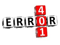 3D crucigrama del error 401 Fotos de archivo