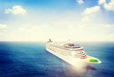 3d Cruise Ship Vacation Holiday Summer Illustration Concept Royalty Free Stock Photography