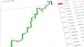 3D cryptocurrency global animado, bitcoin Carta de la palmatoria de Ethereum stock de ilustración