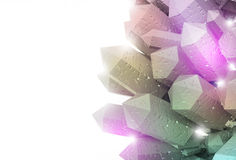 3D Crystal Background Fotografie Stock Libere da Diritti
