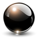 3D crystal sphere. Vector illustration Royalty Free Stock Image