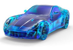 3D Crystal Sport Car Foto de Stock
