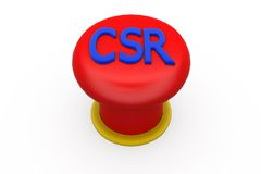 3d CSR button concept Stock Photos