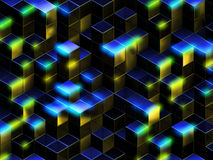 3d cuba il fondo astratto Fotografia Stock