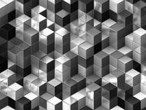 3d cuba il fondo astratto illustrazione vettoriale