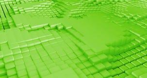 3D cuba l'estratto di ciclaggio senza cuciture del fondo stock footage