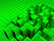 3D cuba la priorità bassa Illustrazione di Stock
