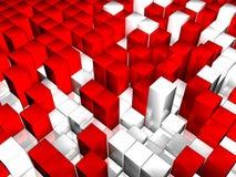 3D cuba la priorità bassa Illustrazione Vettoriale
