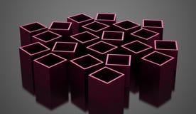 3D cuba o conceito do negócio do fundo rendido ilustração stock