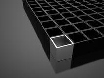 3D cuba o conceito do negócio do fundo rendido ilustração do vetor