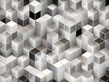 3d cuba o fundo abstrato Fotografia de Stock