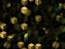 3d cuba o fundo abstrato Imagem de Stock Royalty Free