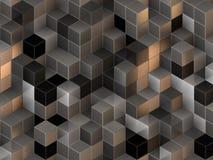 3d cuba o fundo abstrato Imagens de Stock