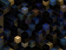 3d cuba o fundo abstrato Imagem de Stock