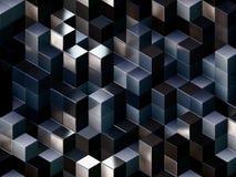3d cuba o fundo abstrato Foto de Stock