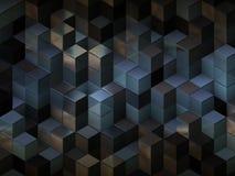 3d cuba o fundo abstrato Fotos de Stock