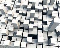 3D Cube. Abstract background of 3d figures Stock Images