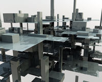 3D Cube. Abstract background of 3d figures Royalty Free Stock Photography