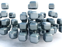 3D Cube. Abstract background of 3d figures Royalty Free Stock Photos